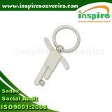 Kundenspezifischer Zink-Legierungs-Leerzeichen-Fußball-Sport Keychain
