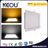 Alta Ultra delgado PF 0.9 Alta protección IP44 de la luz de LED del panel de la luz del panel 3-24W