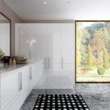 オーストラリアの白く光沢度の高いラッカー木の洗濯室のキャビネット(OPW-L02)