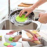 Silicone laveur de Cuisine Salle de bain éponge antibactérien de Brosse lave-vaisselle de tampons à récurer pour gratuite de fruits de la rondelle de légumes plus d'isolation thermique