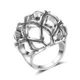 銀によってめっきされるブランク人工的な方法宝石類の水晶リングの宝石類