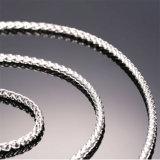 Chaîne de tige personnalisée par longueur en gros de bijou de chaîne d'acier inoxydable