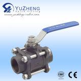 Vávula de bola del acero inoxidable 3PC hecha en Yuzheng
