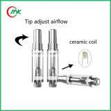 Atomiseur en verre de pétrole de CO2 de Cbd de bourgeon de vaporisateur de première d'air bobine en céramique de trou