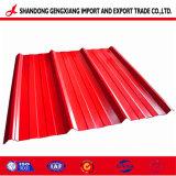 Hoja corrugado de acero galvanizado para tejados