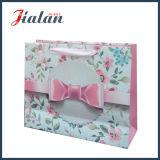 Глянцевая ламинированные кремовая бумага цветы и подарки Bowknot печати бумажных мешков для пыли