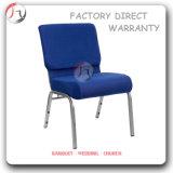 파란 두꺼운 시트 인간 환경 공학 로비 교회 의자 (JC-42)