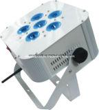 6*10W RGBW 4 en 1 LED de batería Wireless Flat rap DJ Luz