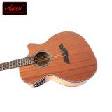 OEM/ODM приемлемым корпус из красного дерева фанеры акустической гитаре с электроприводом