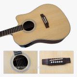 гитара 41inch Cutway Dreadnaught твердая верхняя электрическая акустическая