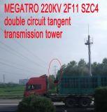 Torre dobro da transmissão do Tangent do circuito de Megatro 220kv 2f11 Szc4