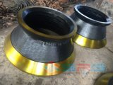 Alto manto Mn13cr2 dell'acciaio di manganese di Metso