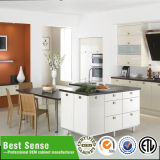 Gabinetes de cozinha amarelos da laca do lustro da alta qualidade