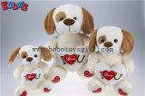 Weichstes ich liebe dich Plüsch-Baby-Hundespielzeug mit rotem Inner-Kissen Bos1184