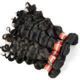 100%年のバージンのペルーの深い波の人間の毛髪の拡張