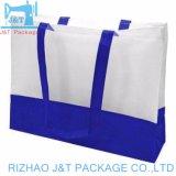 ショッピングのための卸し売りカスタム形の生態学友好的なPPの非編まれた袋によって薄板にされる袋