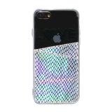 Schitter Geval van de Telefoon van de Groef van de Kaart het Mobiele voor iPhone 8