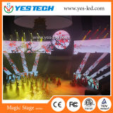 P3.9mm redondo/cilindro/tablilla de anuncios curvada de LED para hacer publicidad