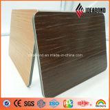 El panel compuesto de aluminio de madera grabado desarrollado recientemente de la serie del tacto de Ideabond