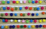 Mais opções de cores Pompon elásticas rendas para decoração