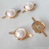 Modo a metà intorno agli accessori bianchi di plastica del metallo della perla decorativi