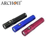 Archon-Tauchens-Taschenlampen-Fackel imprägniern 60m mit Drucktastenschalter