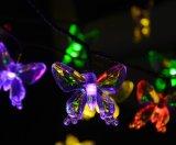 屋外の太陽花LEDストリングライト