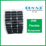 El panel solar flexible solar semi flexible del panel 20W Sunpower