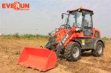 Машинное оборудование Qingdao Everun затяжелитель начала 1.2 тонн малый артикулированный с деревянными вилками