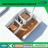 プレハブの鉄骨フレームのアパートかプレハブの家または容器の家