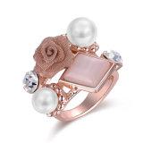 De Ringen van de Juwelen van de Parel van het Ontwerp van de Bloem van de Manier van de douane