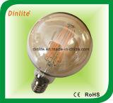 Bulbo de oro del filamento de G95-4W 6W LED