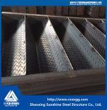 Структура одиночной ферменной конструкции пяди стальная для украшения с лестницей