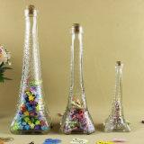 Стеклянная бутылка для искусствоа и домашнего Decortaion, формы Эйфелевы башни