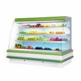 Abra o supermercado refrigerados frutas vitrine de produtos hortícolas