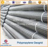 Plástico de geomalla Biaxial Anti-Flaming PP 45-45kn