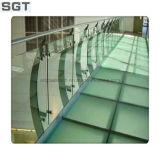 Características balaustrada de templado de vidrio de seguridad laminado para la durabilidad
