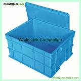 Comercio al por mayor almacenamiento de plástico apilable cuadro sólido para mover