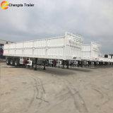 50ton 60ton 3の車軸側面の塀の貨物ボックストレーラー