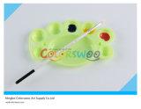 gama de colores colorida del arte del 14.5*9.1cm para los cabritos y los estudiantes (pie lindo, 8 pozos)
