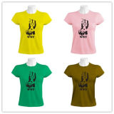 綿文化昇進の女性のティーワイシャツのFactpryの印刷されたとかされた供給