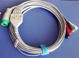 Kontron 12pin 3&5 Snap&Clip ECGケーブル