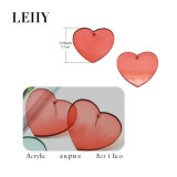 Hot Stud Earrings Bijoux de mode Heart-Acrylic Earrings Designs pour dame