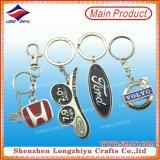 Fabrik-Großverkauf-kundenspezifisches Metallauto-Firmenzeichen Keychain