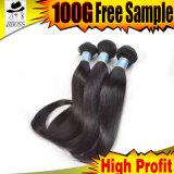 Хороший бразильский зажим в выдвижениях волос сытный