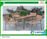 알루미늄 옥외 테이블, 폴리스티렌 물자 의자, 방수 식사 세트