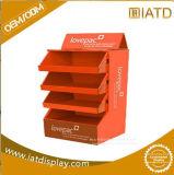 Expositions de marchandises de papier de détail de mémoire d'étage de carton