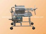 コントロール・パネルが付いている版およびフレーム圧力食用油フィルター機械