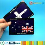 Анти- hanking RFID преграждая карточку PVC защищают ваше удостоверение личности