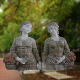 Wohle natürliche Großhandelspolierhand geschnitzte Marmorstatue-Skulpturen